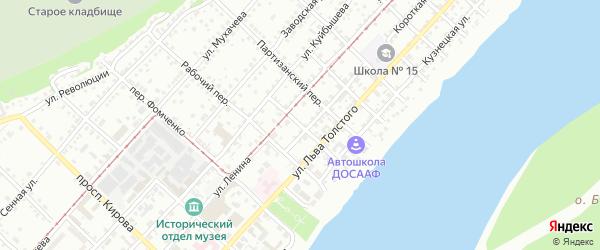 Тракторный переулок на карте Бийска с номерами домов