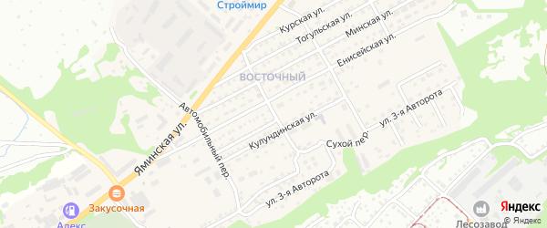 Дорожный переулок на карте Бийска с номерами домов