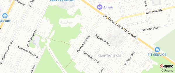 Памирская улица на карте Бийска с номерами домов