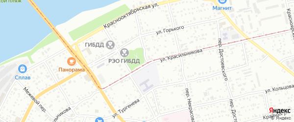 Комсомольский переулок на карте Бийска с номерами домов
