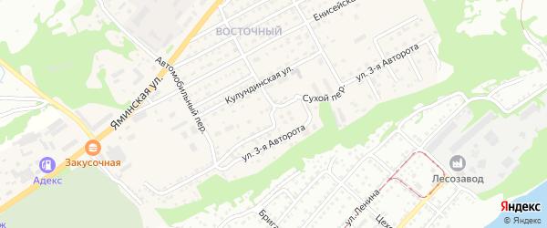 Улица 3-я Авторота на карте Бийска с номерами домов