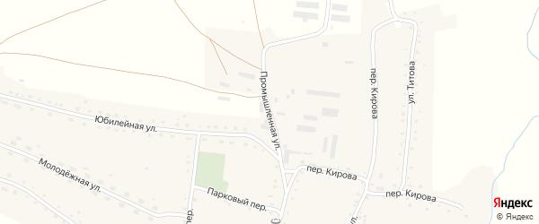 Промышленная улица на карте села Россоши с номерами домов