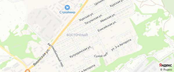 Енисейская улица на карте Бийска с номерами домов