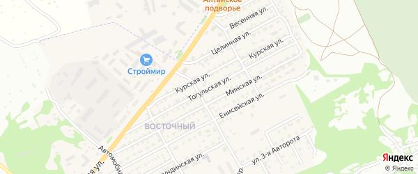 Тогульская улица на карте Бийска с номерами домов