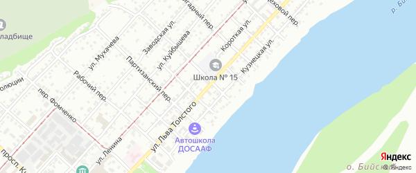Улица Льва Толстого на карте Бийска с номерами домов