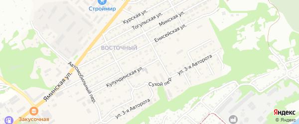 Кулундинская улица на карте Бийска с номерами домов