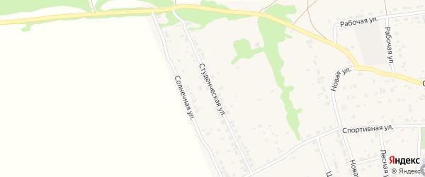 Студенческая улица на карте Первомайского села с номерами домов