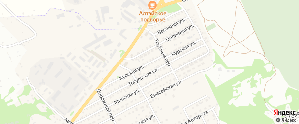 Курская улица на карте Бийска с номерами домов