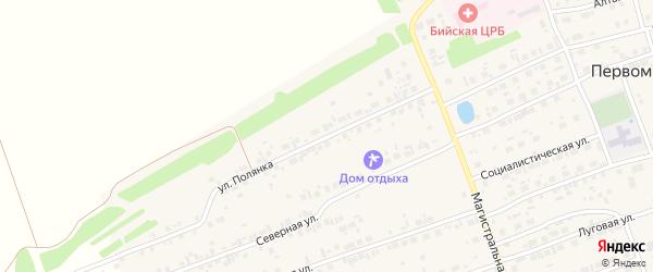 Улица Полянка на карте Первомайского села с номерами домов