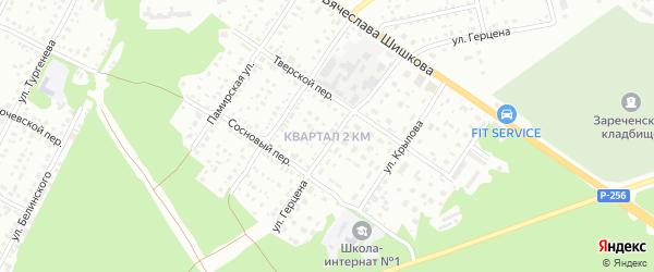 2-й квартал на карте садового некоммерческого товарищества Бии с номерами домов
