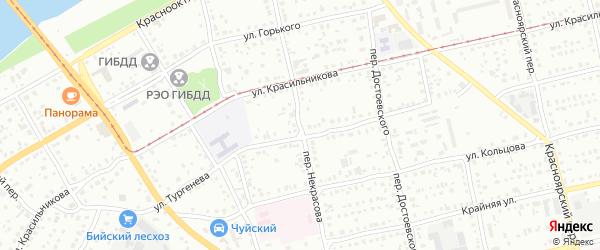 Переулок Николая Некрасова на карте Бийска с номерами домов