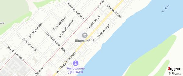 Водопойный переулок на карте Бийска с номерами домов