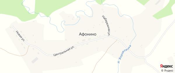 Нагорная улица на карте села Афонино с номерами домов