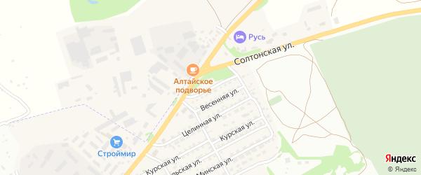 Восточная улица на карте Бийска с номерами домов
