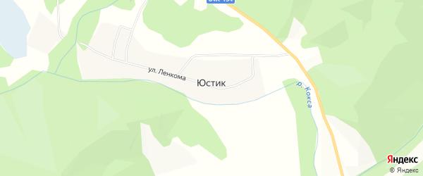 Карта села Юстика в Алтае с улицами и номерами домов