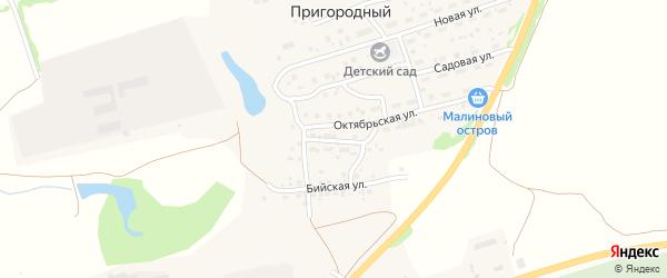 Пролетарская улица на карте Пригородного поселка с номерами домов