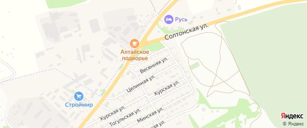 Весенняя улица на карте Бийска с номерами домов