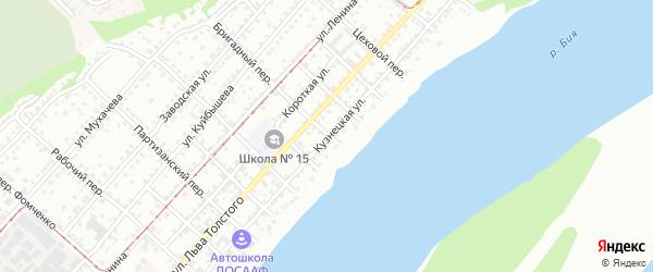 Кузнецкая улица на карте Бийска с номерами домов