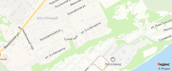 2-й Сухой переулок на карте Бийска с номерами домов