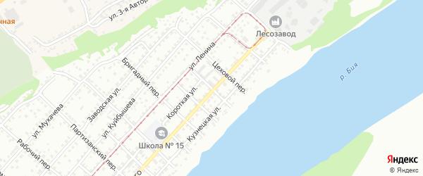 Фабричный переулок на карте Бийска с номерами домов