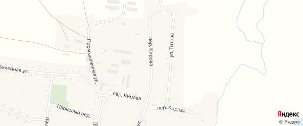 Переулок Кирова на карте села Россоши с номерами домов