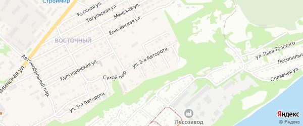 3-й Сухой переулок на карте Бийска с номерами домов