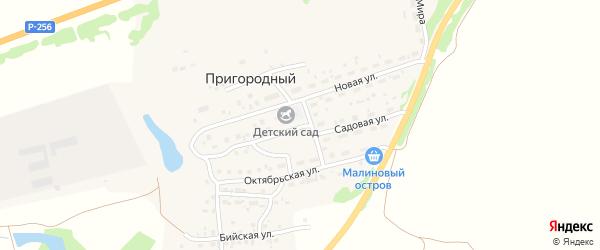 Садовая улица на карте Пригородного поселка с номерами домов