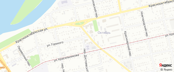 Улица Максима Горького на карте Бийска с номерами домов