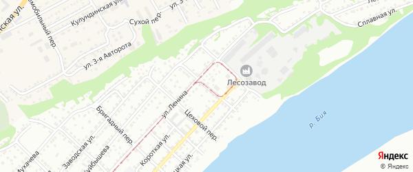 Ручейный переулок на карте Бийска с номерами домов
