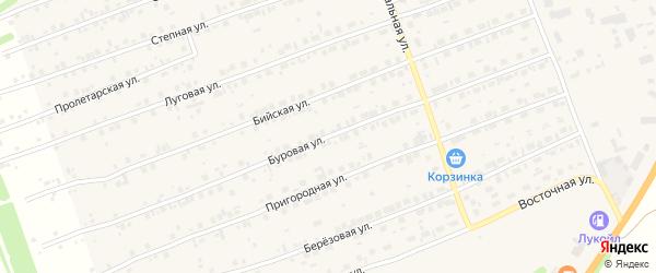 Буровая улица на карте Первомайского села с номерами домов