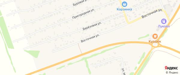 Восточная улица на карте Первомайского села с номерами домов