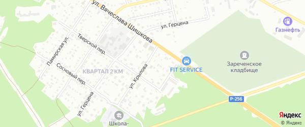 Южная улица на карте Бийска с номерами домов