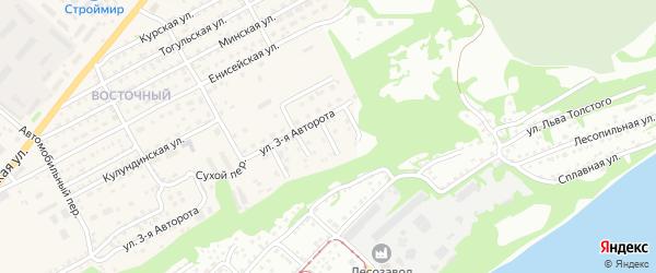 4-й Сухой переулок на карте Бийска с номерами домов