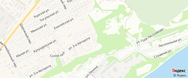 5-й Сухой переулок на карте Бийска с номерами домов