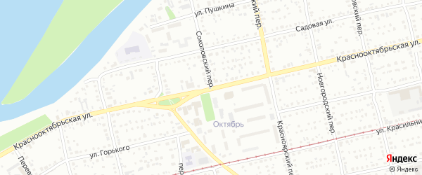 Соколовский переулок на карте Бийска с номерами домов