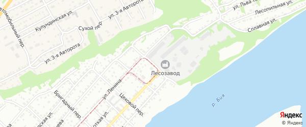 Табунный переулок на карте Бийска с номерами домов