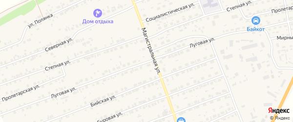 Луговая улица на карте садового некоммерческого товарищества Аэрофлота с номерами домов