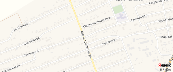 Степная улица на карте Первомайского села с номерами домов