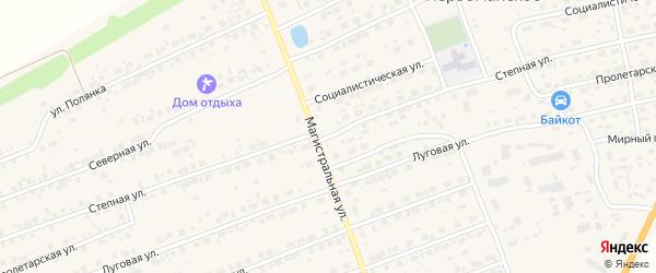 Степная улица на карте садового некоммерческого товарищества Журавушки с номерами домов