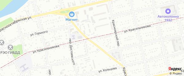 Улица им Героя Советского Союза Красильникова на карте Бийска с номерами домов