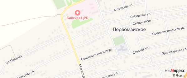 Северная улица на карте Бийска с номерами домов