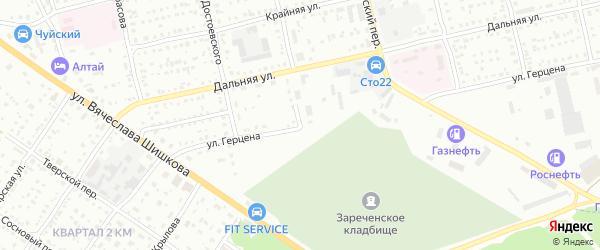 Улица Александра Герцена на карте Бийска с номерами домов