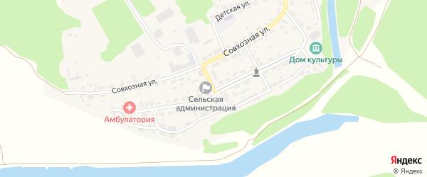 Советская улица на карте Лесного села с номерами домов