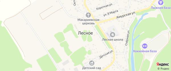 Улица Лесопитомник на карте Лесного села с номерами домов