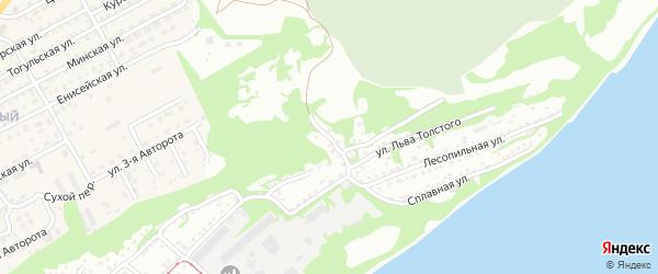 Аэродромный переулок на карте Бийска с номерами домов