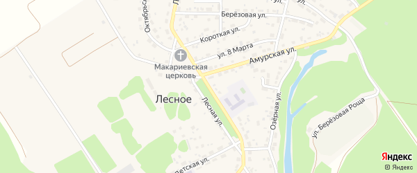 Лесная улица на карте территории сдт Молочника с номерами домов