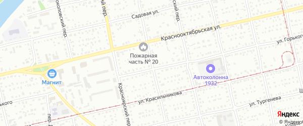 Новгородский переулок на карте Бийска с номерами домов