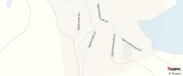Заречная улица на карте села Колбаны с номерами домов