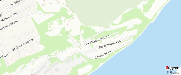 Улица Гора Лесозавода на карте Бийска с номерами домов