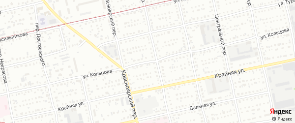 Улица Алексея Кольцова на карте Бийска с номерами домов